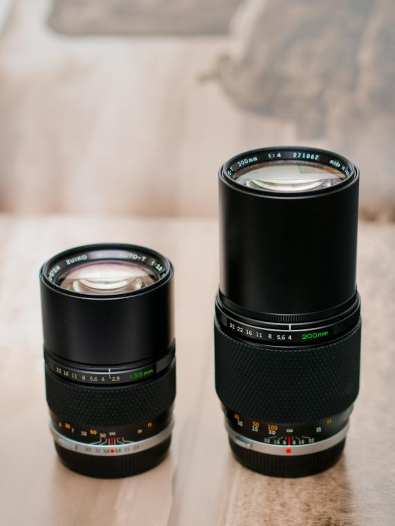 OM Zuiko 135/2.8 and 200/4.
